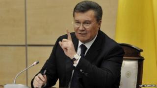 Viktor Yanukovych in Rostov on Don (Feb 2014)