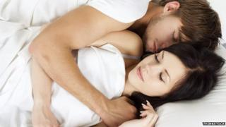 Couple having a lie-in