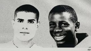 Picture of Zyed (L) and Bouna (2006)