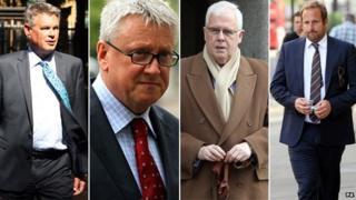 Geoff Webster, Fergus Shanahan, John Kay and Duncan Larcombe (L-R)