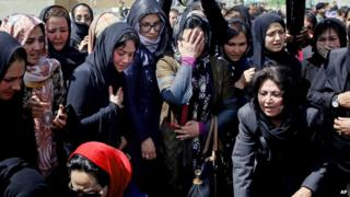 Civil society activists bury Farkhunda