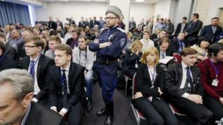 Delegates to the International Russian Conservative Forum in St Petersburg, 22 March 2015