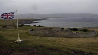 British cemetery on the Falkland Islands for some those who died in the 1982 conflict