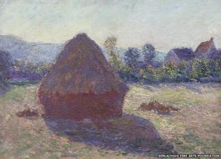 A Haystack in the Evening Sun