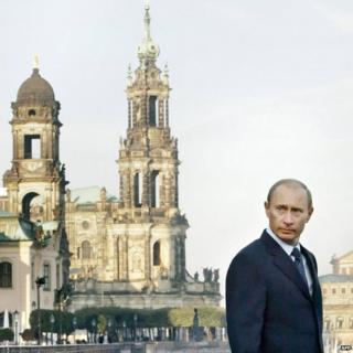 Vladimir Putin in Dresden in 2006