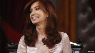 Argentina's President Cristina Fernandez de Kirchner smiles after arriving for the opening session of the 133rd legislative term of Congress in Buenos Aires - 1 March 2015