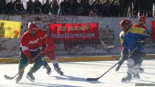 Ice hockey game in India