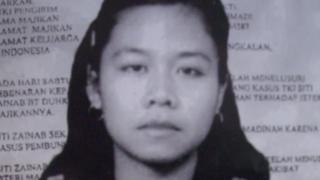 Poster demanding justice for Indonesian domestic worker Siti Zainab