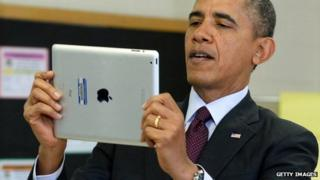 President Obama with iPad
