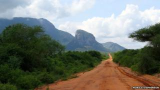 The road to Gichuchu Okenu's mine