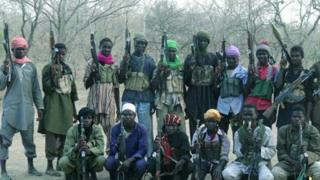 Men claimed to be Boko Haram fighters