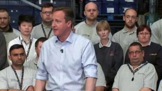 David Cameron speaking on Wednesday