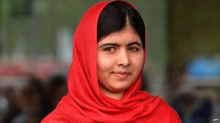 Malala Yousafzai is pictured before officially opening The Library of Birmingham in Birmingham, central England. (3 Sept 2013)