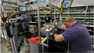 Workers on shop floor