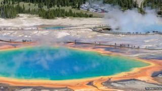Grand Prismatic Spring is the largest hot spring in Yellowstone National Park
