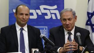 Israeli PM Benjamin Netanyahu and Naftali Bennett, 6 May 2015