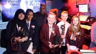 Radio 1's Trevor Nelson and School Reporters