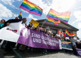 Gay rally in Berlin - file pic