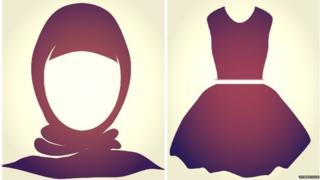 Veil and short skirt icons