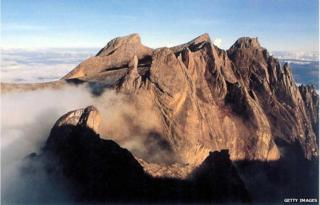 This undated photo shows Mount Kinabalu, in East Malaysia's state of Sabah