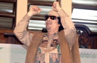 Muammar Gaddafi photographed in Accra, Ghana in 2007