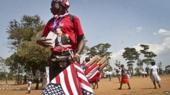 Kenyan supporter of President Obama