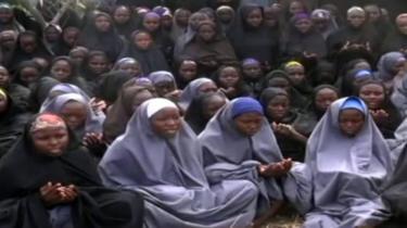 Screengrab of Boko Haram video taken in May 2014 of girls kidnapped from Chibok