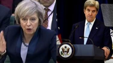 رئيسة وزراء بريطانيا: تصريحات كيري _93182403_1ebeadbe-ef23-4ca7-a35c-f504a6b3ca4f.jpg