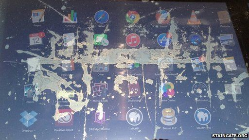 Apple users angered over 'staingate' screen damage