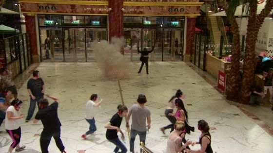 Terror training blast in staged attack at Trafford Centre
