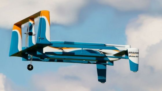 Amazon files patent for flying warehouse