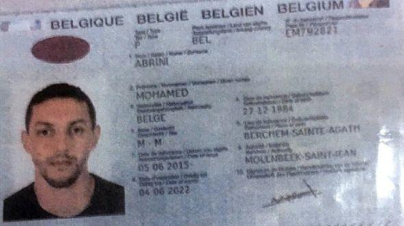 Abrini's passport