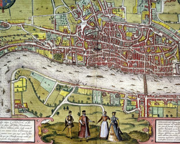 A map of Elizabethan London