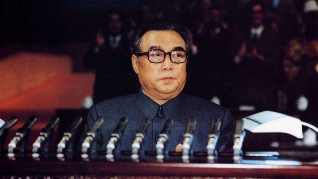 En este foto de octubre de 1980 aparece Kim Il sung durante una reuión del Partido del Trabajo de Corea del Norte.