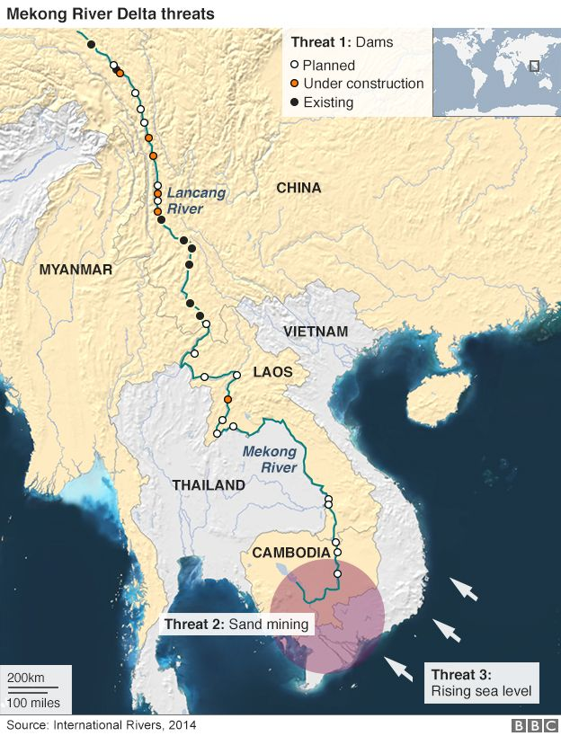 Mekong Delta map