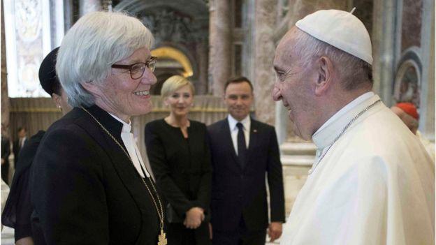 Papa Francisco e Antje Jackelen