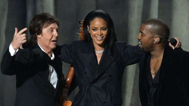 Paul McCartney, Rihanna and Kanye West