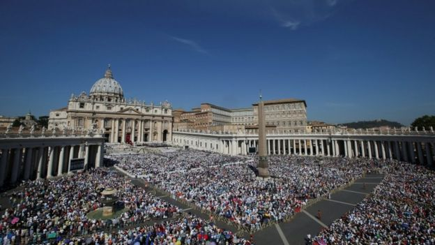 Tens of thousands attended the canonisation