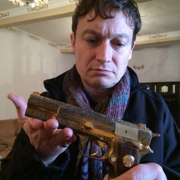 Gabriel Gatehouse and gun now