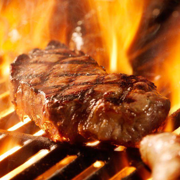 bistec en parrilla