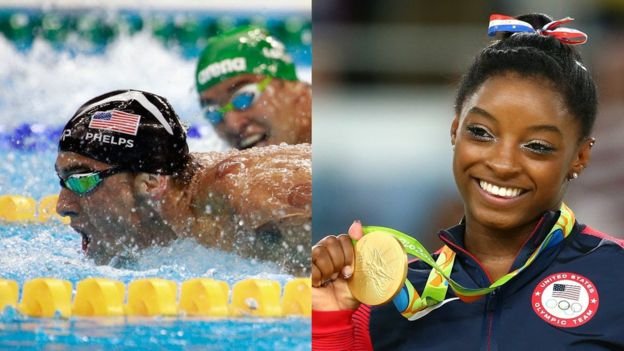 Michael Phelps y Simone Biles