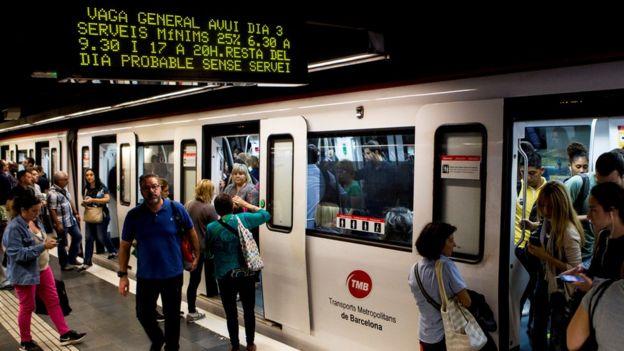 Barcelona metro, 3 Oct 17