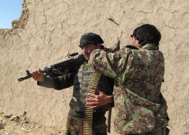 Afghan soldiers in Helmand province, 21 December