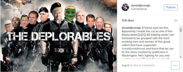 Donald Trump Jr. shared an altered version of the movie poster for