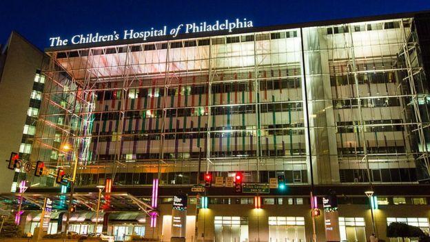 Fachada del Hospital Infantil de Filadelfia
