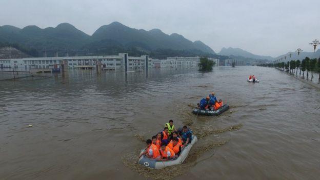 Flooding in Bijia, Guizhou Province