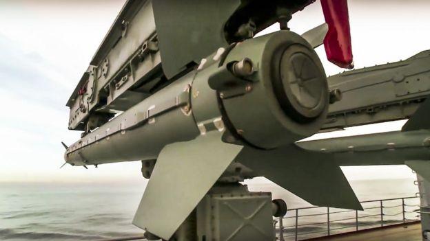 A rocket aboard the Moskva cruiser