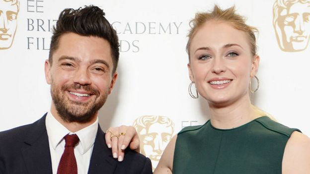 Dominic Cooper and Sophie Turner