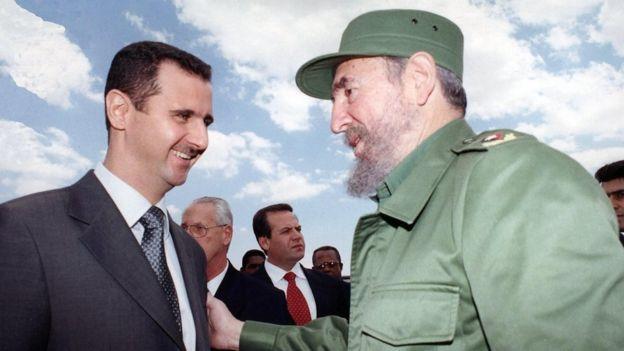 Bashar al-Assad e Fidel Castro