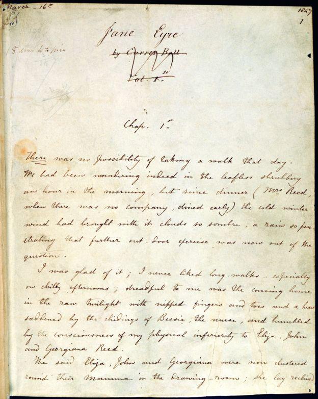 夏洛蒂·勃朗特的《简·爱》手稿